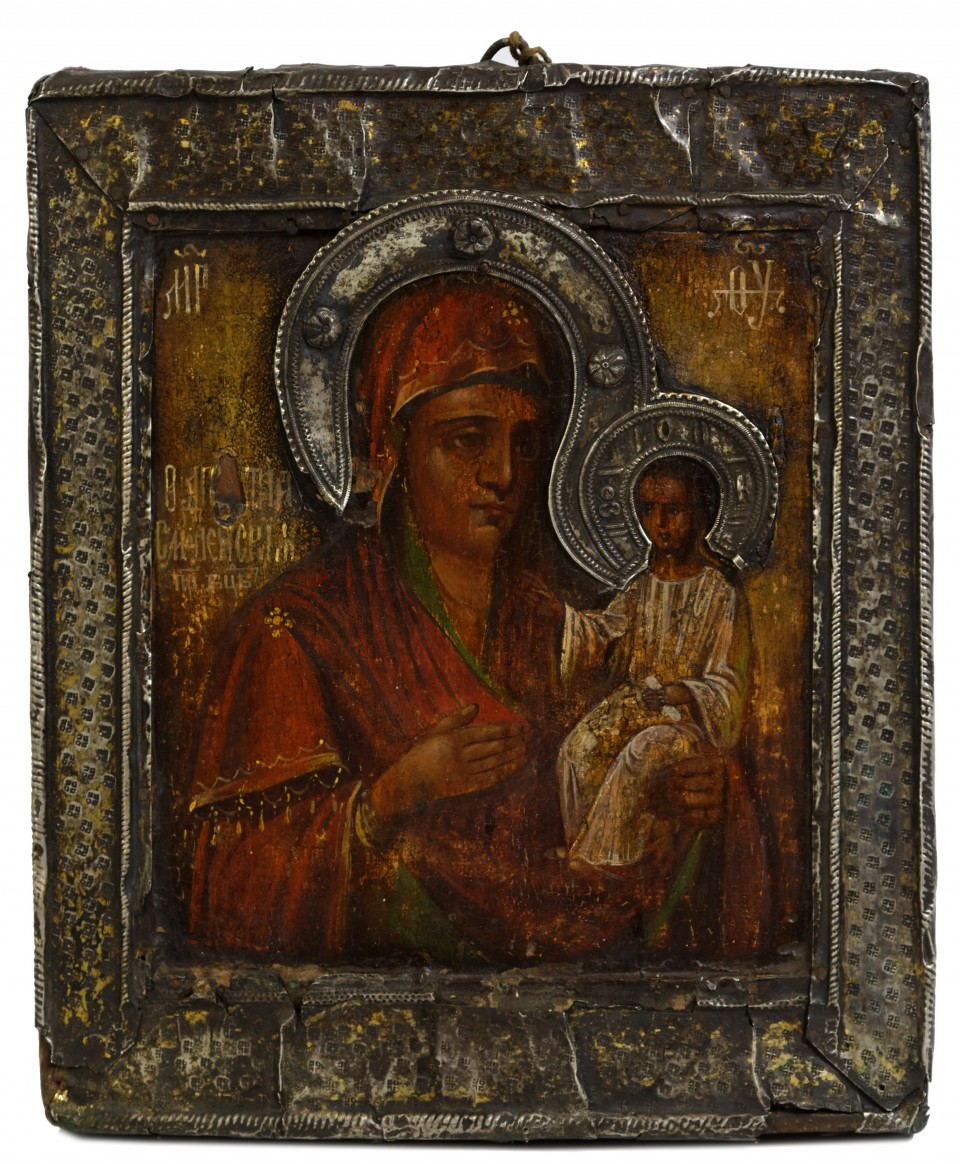Ikona - Matka Boska Smoleńska - Moskwa 1730