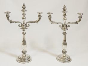 Kandelabry srebrne - Wiedeń 1854