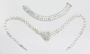 Komplet srebrny: naszyjnik i bransoletka