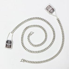 Komplet srebrny: łańcuch i bransoletka