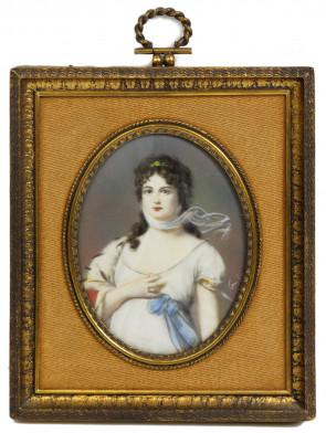 Miniatura - Portret damy