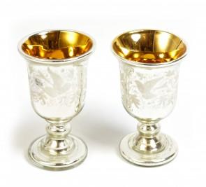 Para pucharków szklanych
